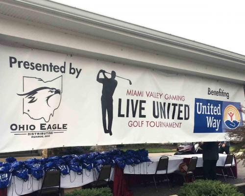 Live United Golf Outing Banner