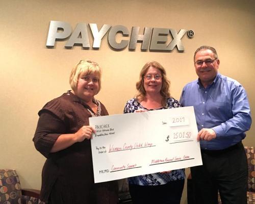 Paychex Check Presentation
